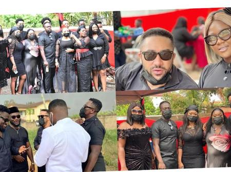 Some Ghanaian celebrities paid their tribute to Eddie Nartey's Wife as she was laid to rest.