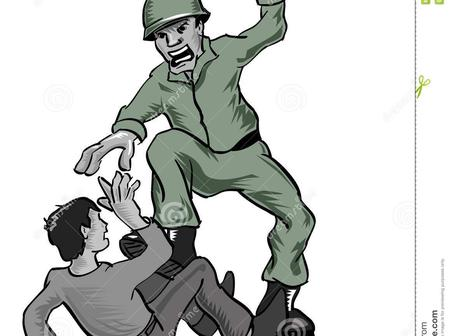 (Fiction) See What Happened To This Police Officer After He Slapped And Hit A Soldier With His Stick