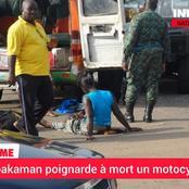 Anyama : Un apprenti gbaka poignarde à mort un motocycliste dans la rue, voici l'histoire