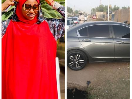 Checkout This Brand New Car Bought By Kannywood Actress Momee Gombe (Photos)