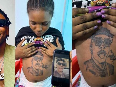 Mayorkun Finally Reacts After A Lady Tattooed Him On Her Baby Bump