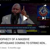 Prophet Owuor's Prophecy of an Earthquake Coming to Kenya and its Likeness to the Wednesday Tremor
