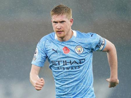 Kevin de Bruyne has defeated both Lionel Messi and Christiano Ronaldo in ranking