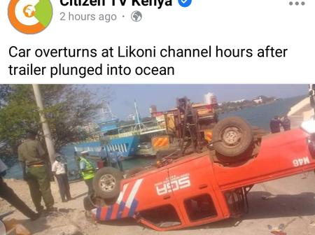 Tragedy at Likoni as car overturns
