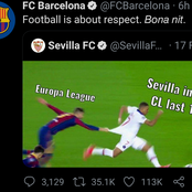 """Football Is About Respect"" As Barcelona Sends Strong Message To Sevilla After Their Win"