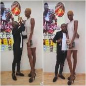 Reactions as short man shows off his tall girl friend  Photo