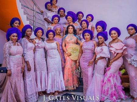 Latest Asoebi Bridal Train Styles That Will Inspire You