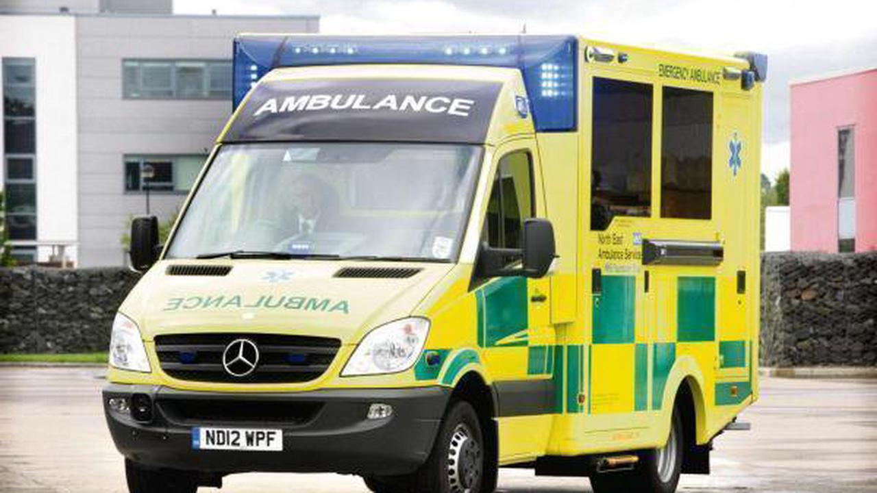 Motorcyclist in 20s taken to hospital with injuries