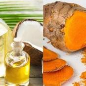 Make Your Face Without Wrinkles By Mixture of Coconut Oil And Turmeric