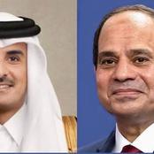 الرئيس السيسي يتلقى اتصالاً هاتفياً من أمير قطر للتهنئة بحلول شهر رمضان المُبارك