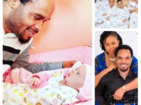 'Welcome to my Home Baby 5G' - Prophet Odumeje Calls her Daughter as he Welcomes his 5th Child