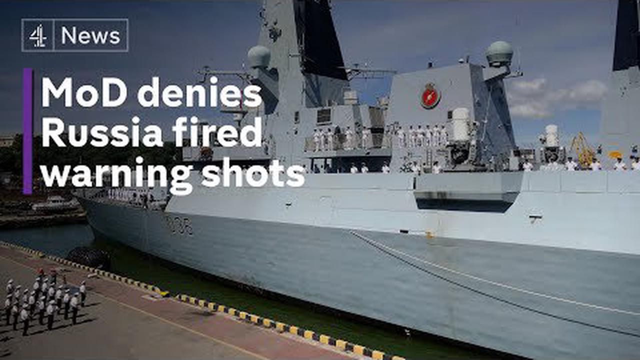 UK denies Russia fired warning shots at British destroyer in Black Sea