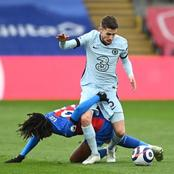 Camera captures the part of Jorginho's body grabbed by Eberechi Eze during Saturday EPL game
