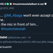 Fans react as Vic O challenges MI to an online rap battle. See MI's reply and judge who won it