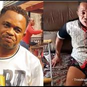 See Why Nollywood Actor Kingsley Orji Can't Walk And Is Making Use Of Crouches
