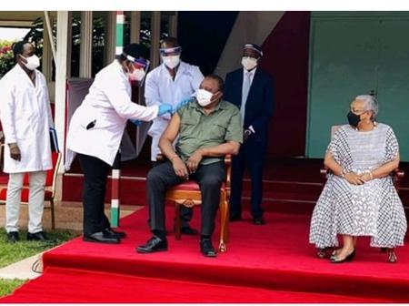 'Amechange Nguo?' Reactions As a Photo of Uhuru Taking The Vaccination Resurface Moment After Speech