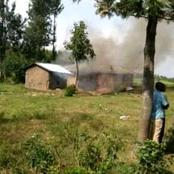 Tension In Khayo Village, Busia County As Area Chief Burns Two Houses Of Witches