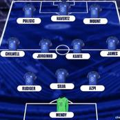 Formation showing how Chelsea could possibly line up against Manchester City