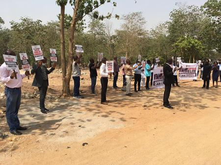 Check Out Photos Of What Members Of Protest By Pyrates Confraternity In Abuja