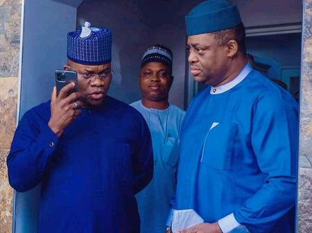 After FFK Met Dr. Kayode Fayemi Of Ekiti State, See The APC Governor He Met Again Today (Photos)