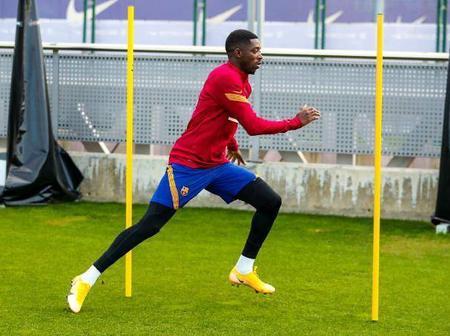 Good news For Barcelona Fans as their Star player return to training ahead of their La Liga encounter