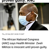 Dr Mkhize is he really innocent ? Opinion