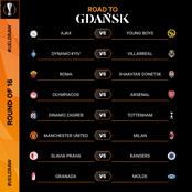 UEFA Europa League Round of 16 Draw: See Manchester United And Arsenal Opponents