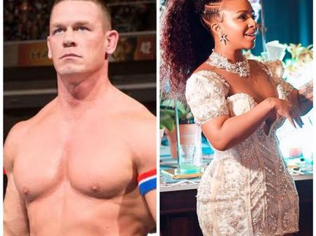 Boity Thulu celebrate after what John Cena did to her