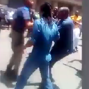 Foreigners allegedly beat a police officer and took his gun in Joburg CBD