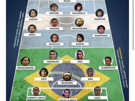 Argentina vs Brazil All Time Xi For Each Position, Who Will Win