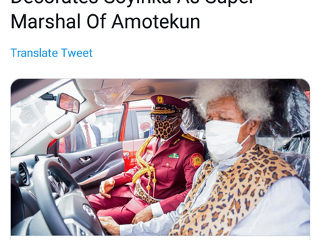 Headline News: Wole Soyinka appointed as Super Marshal of Amotekun, EFCC arrest 34 yahoo boys