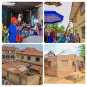 Check Out Photos Of Oluwo Of Iwo Inspecting The Worth Of Properties Damaged By Rainstorm In Iwo.