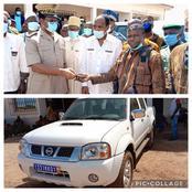 A sinématiali, la confrérie des Dozos reçoit un véhicule de la part d'Adama Coulibaly
