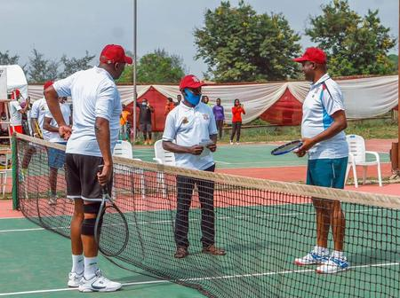 See Photos As Governor Seyi Makinde Wins in Tennis Exhibition Match