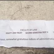 See The Law School Exam Questions That Sparked Reactions