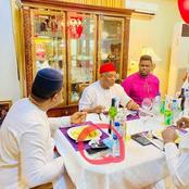 See what was spotted on Femi Fani-Kayode's dinning table while having dinner with Orji Uzor Kalu