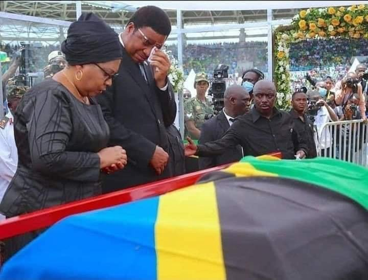 290f9603619a436fb5b871b0f3a03993?quality=uhq&resize=720 - Day 2: Sad Scenes From Tanzania As Their President, John Magufuli Funeral Rites Proceeds - Photos