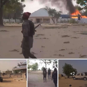 Photos And Video Of ISWAP Attacking A Community In Bornu State