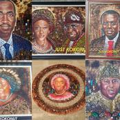 These Portraits Were Made With Coconut Shells!! Meet Nathaniel Hodonu, The Artist Behind Them All