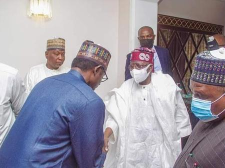 Tinubu pays a condolence visit to yobe state Governor Over Death Of His Grandmother [Photo]