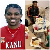 Lovely Moments As Okocha, Daniel Amokachi And Other Legends Pay Kanu Nwankwo A Visit (Photos)