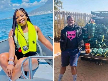 Here Is The Pictures Of Makhadzi Boyfriend See What He Is Selling Does See Here