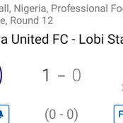 Adamawa United won 1-0 against Lobi Stars as they won their first match out of 12 played