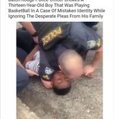 Watch: A police officer chokes a 13 year old boy in a case of mistaken identity