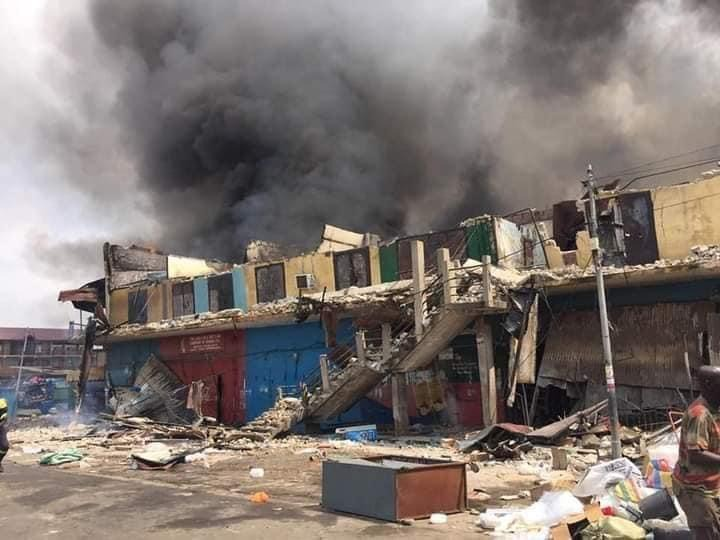 2988ef5ac31144f88f639f5644f95473?quality=uhq&resize=720 - Sad: Fire Razes Three-Storey Building At Aboabo Station & A Market Behind KNUST
