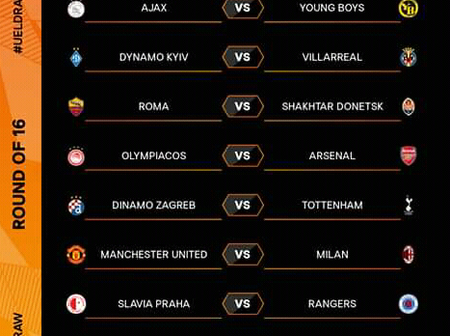 Complete UEFA Europa League Round of 16 Draws as Man United Play Ac Milan & Arsenal vs Olympiakos