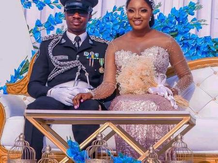 See Beautiful Wedding Photos Of A Police Officer Posted Online
