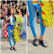 See The 252k Naira Shoes Erica Wore On Her Arrival In Ghana Today (Photos)