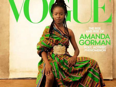American Poet Amanda Gorman Adorns Beautiful Kente For Cover of Vogue Magazine