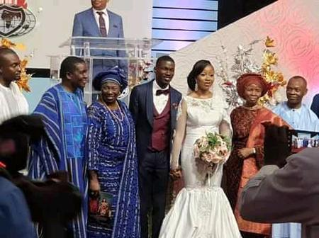 Checkout These Pictures Taken At The White Wedding of Bishop David Abioye's Son.